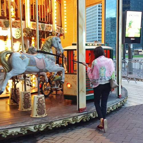 Taming a carousel horse - it's a must when entering any wonderland.