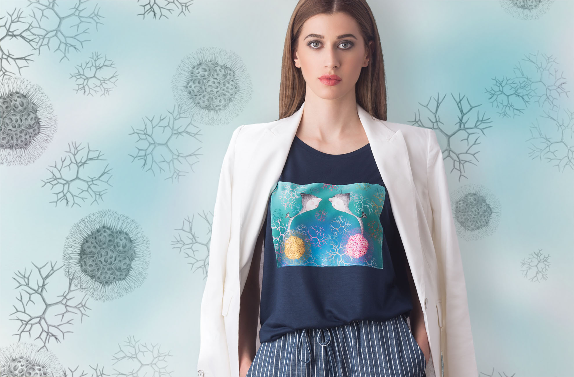 Marabeca Love Molecules Navy tShirt