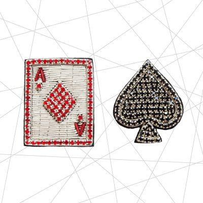 Ace of Spades Brooch Set