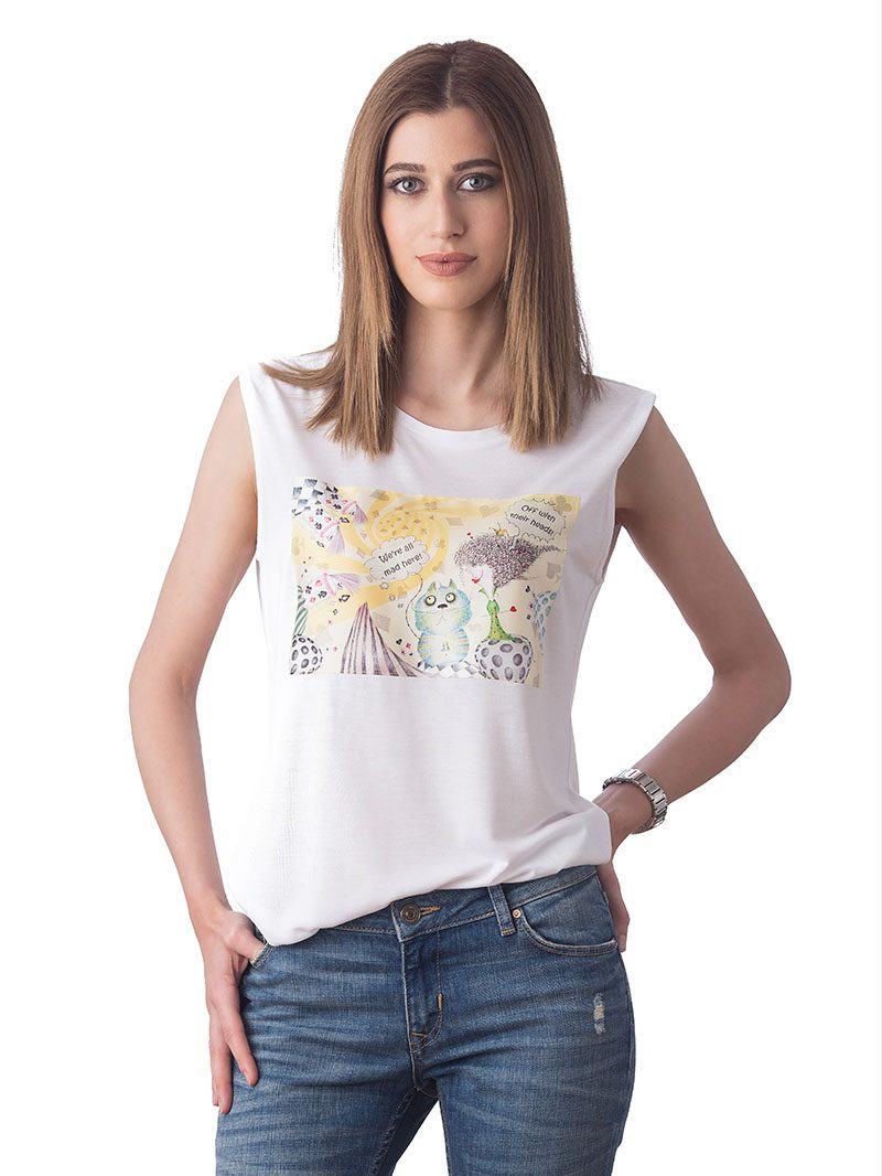 VORTEX WONDERLAND WHITE T-SHIRT (T22-245C001)